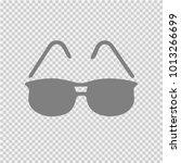 sun glasses vector icon eps 10. ... | Shutterstock .eps vector #1013266699