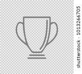 trophy cup vector icon eps 10.... | Shutterstock .eps vector #1013266705