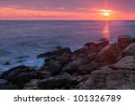 beautiful rocky sea beach at...   Shutterstock . vector #101326789