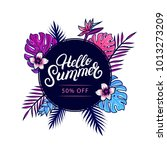 hello summer sale colorful... | Shutterstock . vector #1013273209