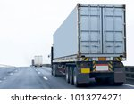 truck on road container ... | Shutterstock . vector #1013274271