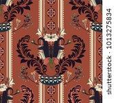 vector floral pattern ... | Shutterstock .eps vector #1013275834