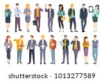 young professional confident... | Shutterstock .eps vector #1013277589