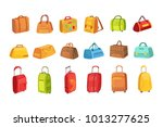 suitcases and other luggage... | Shutterstock .eps vector #1013277625