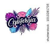 california hand written...   Shutterstock . vector #1013281735
