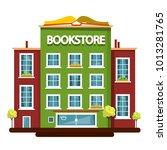 bookstore building. vector flat ...   Shutterstock .eps vector #1013281765