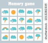 memory game with pictures ... | Shutterstock .eps vector #1013282335
