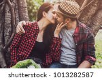 romantic couple dating in the... | Shutterstock . vector #1013282587