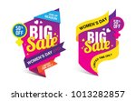 womens day big sale banner... | Shutterstock .eps vector #1013282857