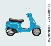 scooter  motorcycle  motorbike  ... | Shutterstock .eps vector #1013285479