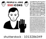 pitiful elector pictograph with ... | Shutterstock .eps vector #1013286349
