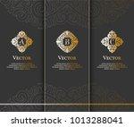 vector emblem. elegant  classic ... | Shutterstock .eps vector #1013288041