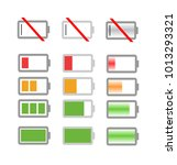 battery charge indicator icons... | Shutterstock .eps vector #1013293321