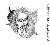 split personality. persona....   Shutterstock .eps vector #1013295001