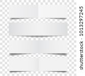 white paper banners set with... | Shutterstock .eps vector #1013297245