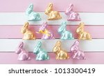 colorful bunnies made from... | Shutterstock . vector #1013300419