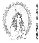 neo getto praying virgin mary.... | Shutterstock .eps vector #1013301601