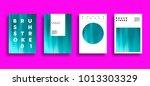 artistic covers design. brush... | Shutterstock . vector #1013303329