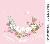 valentines day background... | Shutterstock .eps vector #1013313481