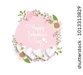 valentines day background... | Shutterstock .eps vector #1013313829