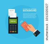 pos terminal confirms the... | Shutterstock .eps vector #1013320327