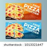 free pizza voucher templates | Shutterstock .eps vector #1013321647