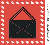 mail icon flat. simple black...