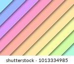 rainbow pastel art background.... | Shutterstock .eps vector #1013334985