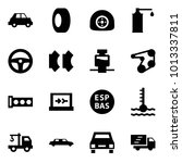origami style icon set   car... | Shutterstock .eps vector #1013337811