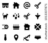 origami style icon set   house... | Shutterstock .eps vector #1013337871