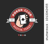 poker club emblem label badge... | Shutterstock .eps vector #1013342455