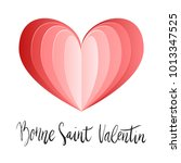 bonne saint valentin happy... | Shutterstock .eps vector #1013347525