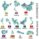 vector maps and flags of with... | Shutterstock .eps vector #1013348215