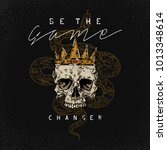 be the game changer slogan.... | Shutterstock .eps vector #1013348614