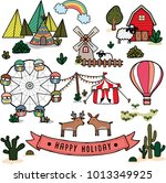 vector happy holiday travel trip | Shutterstock .eps vector #1013349925