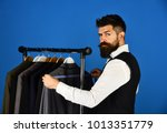 businessman with curious face... | Shutterstock . vector #1013351779
