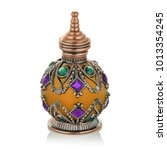 arabic perfume fancy bottle | Shutterstock . vector #1013354245