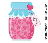 fruit love jam icon with hearts ...   Shutterstock .eps vector #1013357305