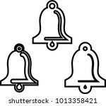 bell icon  bell vector art... | Shutterstock .eps vector #1013358421