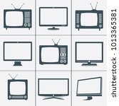 modern and retro tv icons....   Shutterstock .eps vector #1013365381