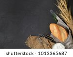 homemade bread or bakery with...   Shutterstock . vector #1013365687