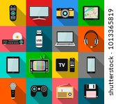 set of technology and... | Shutterstock .eps vector #1013365819