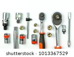socket spanner wrenches on... | Shutterstock . vector #1013367529