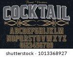 vintage font typeface... | Shutterstock .eps vector #1013368927