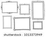 set of hand drawn vector frames. | Shutterstock .eps vector #1013373949