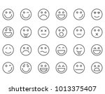 simple set of emoticons .... | Shutterstock .eps vector #1013375407