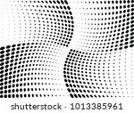 abstract halftone wave dotted... | Shutterstock .eps vector #1013385961