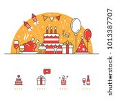 celebration  party banner and... | Shutterstock .eps vector #1013387707
