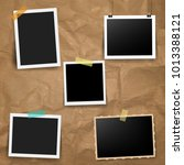 photo frame with old background ... | Shutterstock .eps vector #1013388121