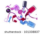 bottles with spilled nail... | Shutterstock . vector #101338837